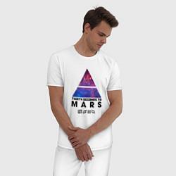 Пижама хлопковая мужская 30 STM: cosmos цвета белый — фото 2