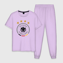 Пижама хлопковая мужская Deutscher Fussball-Bund цвета лаванда — фото 1