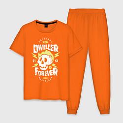 Пижама хлопковая мужская Dweller Forever цвета оранжевый — фото 1