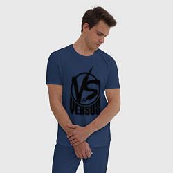 Пижама хлопковая мужская Versus Battle цвета тёмно-синий — фото 2