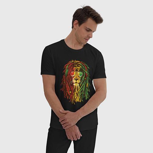 Мужская пижама Rasta Lion / Черный – фото 3