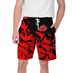Шорты на шнурке мужские AKATSUKI цвета 3D-принт — фото 1