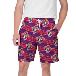 Шорты на шнурке мужские Белоснежка и Принц цвета 3D-принт — фото 1
