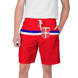 Шорты на шнурке мужские Сборная Сербии цвета 3D — фото 1