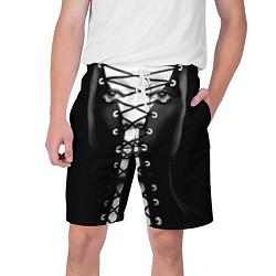 Шорты на шнурке мужские Шнуровка цвета 3D-принт — фото 1