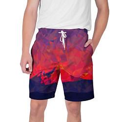 Шорты на шнурке мужские Абстракция цвета 3D — фото 1