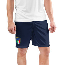Шорты спортивные мужские Форма сборной Италии гостевая цвета 3D-принт — фото 2