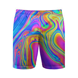 Шорты спортивные мужские Цветные разводы цвета 3D — фото 1