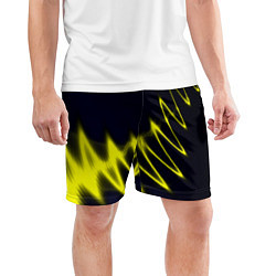 Шорты спортивные мужские Молния цвета 3D — фото 2