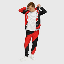 Костюм мужской CS:GO Red Style цвета 3D-меланж — фото 2