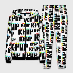 Костюм мужской K-pop Pattern цвета 3D-черный — фото 1