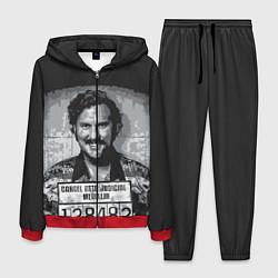 Костюм мужской Pablo Escobar: Smile цвета 3D-красный — фото 1