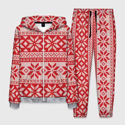 Костюм мужской Красный свитер цвета 3D-меланж — фото 1