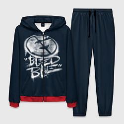 Костюм мужской Bleed Blue цвета 3D-красный — фото 1
