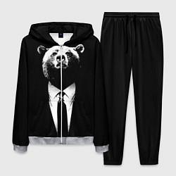 Костюм мужской Медведь бизнесмен цвета 3D-меланж — фото 1