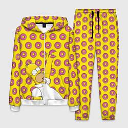 Костюм мужской Пончики Гомера Симпсона цвета 3D-белый — фото 1