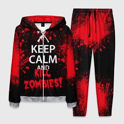 Костюм мужской Keep Calm & Kill Zombies цвета 3D-меланж — фото 1