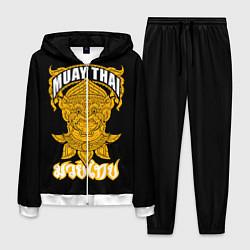 Костюм мужской Muay Thai Fighter цвета 3D-белый — фото 1