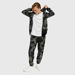 Костюм мужской Камуфляж пиксельный: черный/серый цвета 3D-черный — фото 2