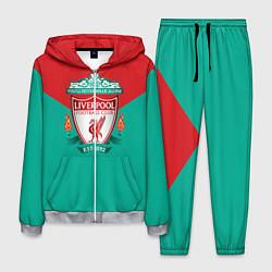 Костюм мужской Liverpool: Green style цвета 3D-меланж — фото 1