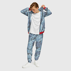 Костюм мужской Камуфляж: голубой/синий цвета 3D-красный — фото 2