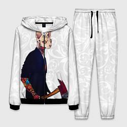 Костюм мужской Сфинкс с топором цвета 3D-черный — фото 1