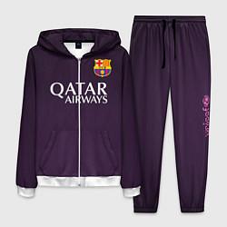 Костюм мужской Barcelona FC: Violet цвета 3D-белый — фото 1