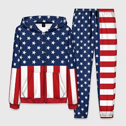 Костюм мужской Флаг США цвета 3D-красный — фото 1