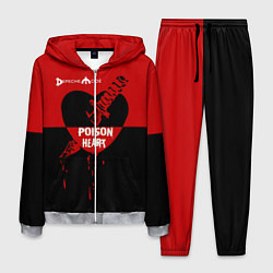 Костюм мужской Poison heart цвета 3D-меланж — фото 1