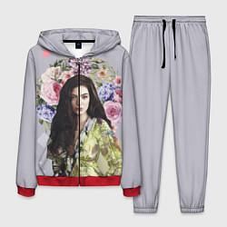 Костюм мужской Lorde Floral цвета 3D-красный — фото 1