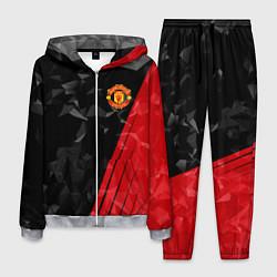 Костюм мужской FC Manchester United: Abstract цвета 3D-меланж — фото 1