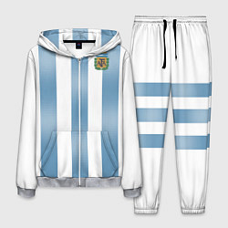 Костюм мужской Сборная Аргентины: ЧМ-2018 цвета 3D-меланж — фото 1