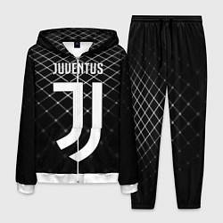 Костюм мужской FC Juventus: Black Lines цвета 3D-белый — фото 1