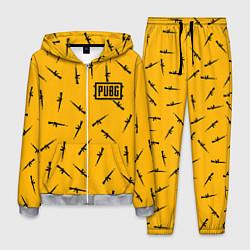 Костюм мужской PUBG: Yellow Weapon цвета 3D-меланж — фото 1