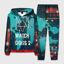 Костюм мужской Watch Dogs 2: Network Hack цвета 3D-красный — фото 1