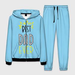 Костюм мужской Best Dad Ever цвета 3D-черный — фото 1