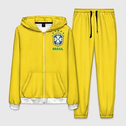 Костюм мужской Сборная Бразилии цвета 3D-белый — фото 1