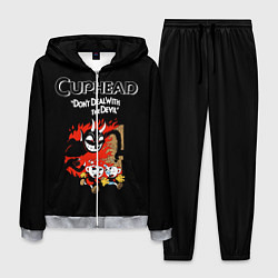 Костюм мужской Cuphead: Hell Devil цвета 3D-меланж — фото 1