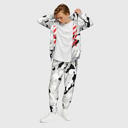 Костюм мужской Off-White: Grey Red Lines цвета 3D-меланж — фото 2