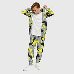 Костюм мужской Yellow & Grey Camouflage цвета 3D-меланж — фото 2
