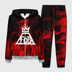 Костюм мужской Fall Out Boy: Red Flame цвета 3D-меланж — фото 1