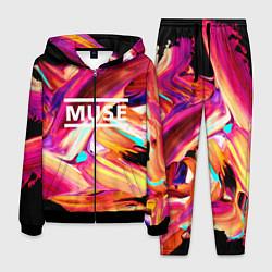 Костюм мужской MUSE: Neon Colours цвета 3D-черный — фото 1