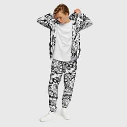 Костюм мужской Хохлома черно-белая цвета 3D-меланж — фото 2