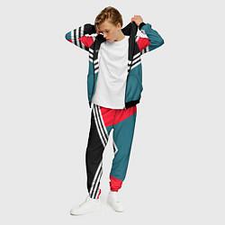 Костюм мужской Firm 90s: Arrows Style цвета 3D-черный — фото 2