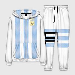Костюм мужской Сборная Аргентины цвета 3D-белый — фото 1