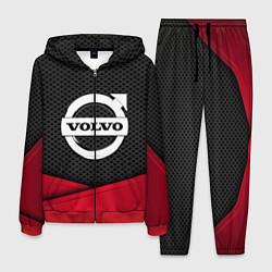 Костюм мужской Volvo: Grey Carbon цвета 3D-красный — фото 1