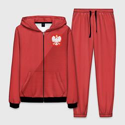 Костюм мужской Poland Team: Away WC-2018 цвета 3D-черный — фото 1