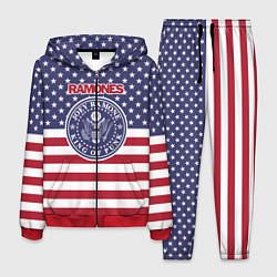 Костюм мужской Ramones USA цвета 3D-красный — фото 1