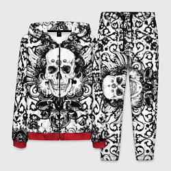 Костюм мужской Grunge Skull цвета 3D-красный — фото 1