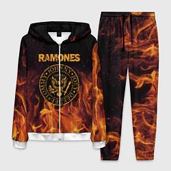 Костюм мужской Ramones: Hell Flame цвета 3D-белый — фото 1